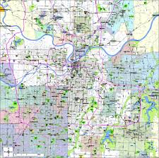kansas city metro map kansas city digital vector maps editable illustrator