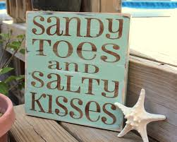beach sign sandy toes salty kisses coastal beach house nautical