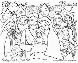 all saints day coloring pages glum me
