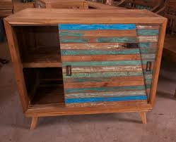 Reclaimed Boat Wood Furniture Reclaimed Teak Boat Wood Sliding Door Cabinet Imported From Bali