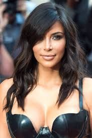 kim kardashian long layered hairstyles pictures