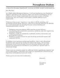 sample cover letter for a mechanical engineer recentresumes com
