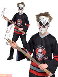 jason costume boys bloody jason costume kid hockey player fancy