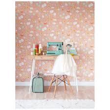 papier peint romantique chambre papier peint à fleurs ées 70 contemporain
