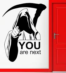 new wall stickers vinyl decal death quote you are next funny scary