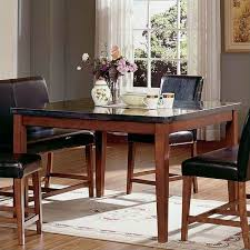 Counter Height Dining Room Furniture by Steve Silver Bello Granite Square Counter Height Dining Table In