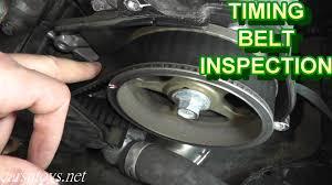 subaru timing belt inspection youtube