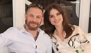 tom hardy u0026 wife charlotte riley cozy up while watching prince