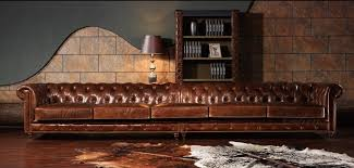 Chesterfield Sofa Vintage Top Quality Leather 6 Seaters Vintage Chesterfield Leather