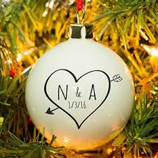personalised christmas baubles i just love it