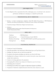 Sample Resume Objectives For Manufacturing by Mainframe Resume Samples Free Resume Example And Writing Download