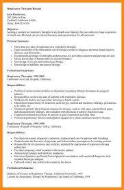 Respiratory Therapist Resume Samples 100 Sample Occupational Therapy Resume Sample Respiratory