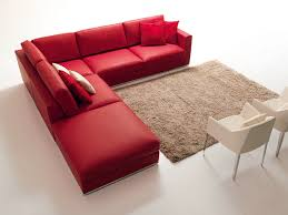 Red Corner Sofa by Corner Sofa In Contemporary Stile For Living Room Idfdesign
