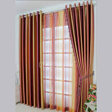 modern striped gold and purple red blackout window curtain