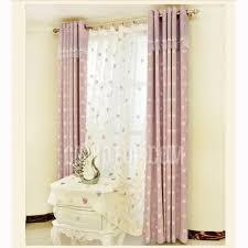 Light Purple Curtains Curtains Light Purple Heart Pattern Linen Cotton Room Darkening