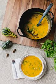 Butternut Squash And White Bean Soup Butternut Squash Soup With Spinach And Mushrooms E A T