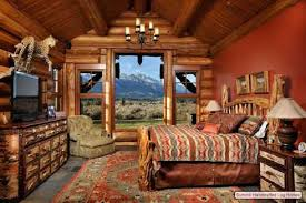 bedroom decor photos log cool cabin bedroom decorating ideas