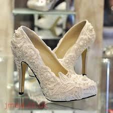 wedding shoes kg gorgeous lace peep toe heels pyptour