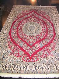 Signed Persian Rugs Vintage Persian Tabriz Area Rug Signed Red Blue U0026 Cream