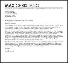 cover letter for volunteer position in hospital volunteer