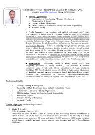 Skills In Hrm Resume Resume Brig A Joshi 01 Apr 2016