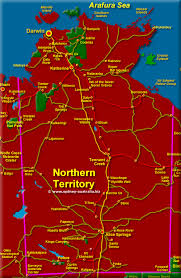 territories of australia map northern territory maps australia