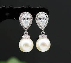 bridesmaid pearl earrings wedding jewelry wedding earrings bridal earrings bridesmaid