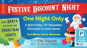 festive discount event u0026 santa turning on the lights city square