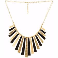 gold plated statement necklace images Efulgenz trendy gold plated black fancy party wear statement jpg