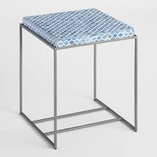 Metal Accent Table Jali Pattern Metal Accent Table