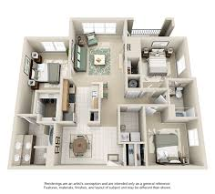 three bedroom townhomes 1 2 3 bedroom apartments estancia luxury apartments with regard to 3