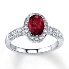 natural ruby rings images Jared natural ruby ring 1 10 ct tw diamonds 14k white gold jpg