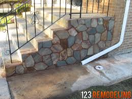 harwood heights concrete porch u0026 staircase 123 remodeling