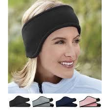 headband men sports velcro fleece headbands running headwear sweatbands ear