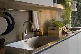 Stainless Steel Kitchen Countertops with Kitchen Stainless Steel Kitchen Sink And Counter Top With Arch