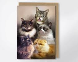 Hipster Cat Meme - cats on the internet greeting card funny greeting card