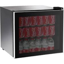 coca cola fridge glass door igloo 70 can or 14 bottle adjustable beverage center with silver