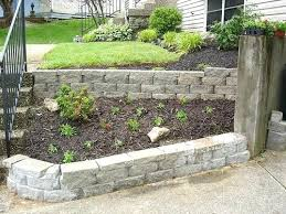 Backyard Retaining Wall Ideas Garden Blocks Beautiful Landscaping Blocks Ideas Landscape