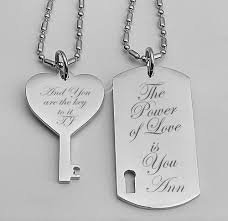 customized dog tag necklace personalized stainless dog tag key necklace set
