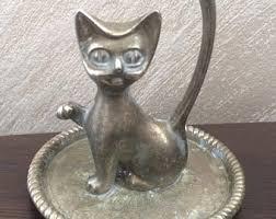 vintage cat ring holder images Cat ring dish etsy jpg