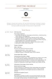 Moving Resume Sample by Seo Executive Resume Samples Visualcv Resume Samples Database