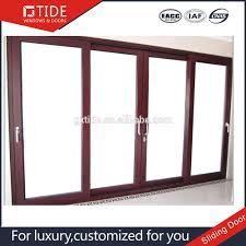beautiful design 22mm solid wood aluminum sliding doors with