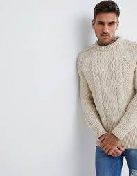 chunky sweaters for men cable sweaters asos