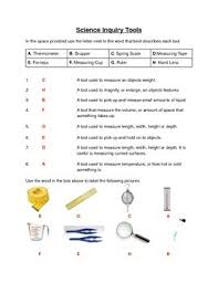 science inquiry tools worksheet by deans ink teachers pay teachers
