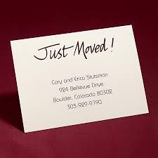 personalized moving announcements change of address cards