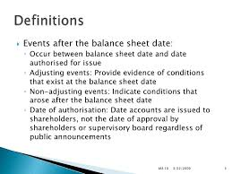 ias 10 events after the balance sheet date