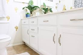 Painted Bathroom Cabinets by How To Paint A Bathroom Vanity Classy Clutter