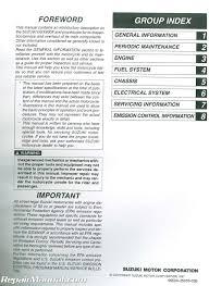 1998 2006 suzuki gsx600f katana motorcycle service manual 99500