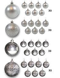 Silver And White Christmas Decorations Amazon Com Christmas Ball Ornaments Silver Ball Ornaments