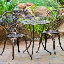 Outdoor Bistro Table Outdoor Bistro Table And Chairs Mainstays Wrought Iron Pieceor Set